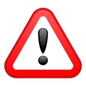 Warning Red Triangular Sign
