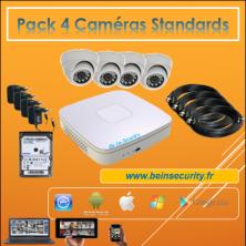pack 4 caméras Standards